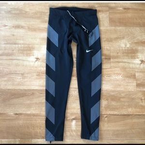 Men's Nike Black Running Tights Reflective size M